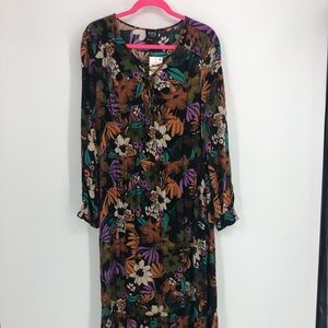 ECI New York Women Printed Maxi Dress Floral Sz 14